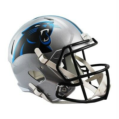NFL Football Full Size Speed Helm Helmet CAROLINA PANTHERS Riddell Footballhelm