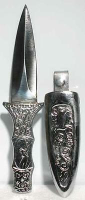 Engraved Silver Boot Athame Ritual Wicca Pagan Knife Druid
