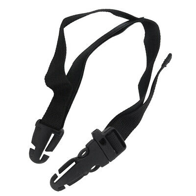 Sternum Strap Backpack Webbing Chest Strap with Whistle Buckle Black