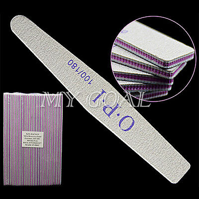 Pro 10Pcs Double Sided Nail File Buffing Manicure Art Acrylic Tools 100/180 Tip