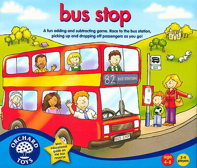 Orchard Toys BUS STOP Kids/Children's Fun Addition And Subtraction Race Game BN