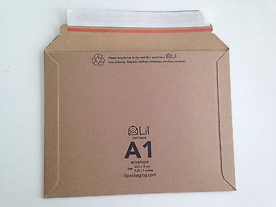 A1 size Lil 235 x 180mm Rigid Cardboard Book Mailer Envelope Large Letter