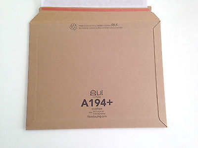 A194+ size Lil 292 x 234mm Rigid Cardboard Book Mailer Envelope Large Letter