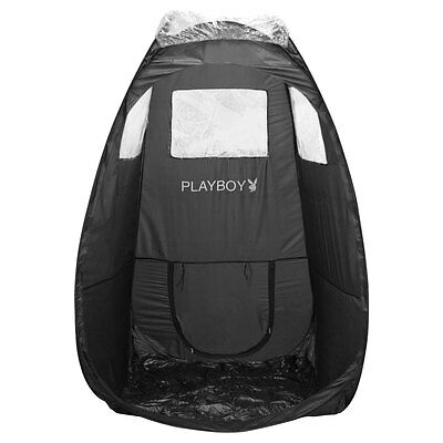 Playboy Black Portable Pop Up Tent for Airbrush Sunless Spray Tanning Mobile