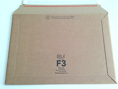 F3 size Lil 249 x 352 mm Rigid Cardboard Book Mailer Envelope Large Letter