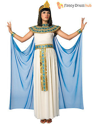 Ladies Cleopatra Costume Adults Egyptian Queen Fancy Dress Womens Goddess Outfit