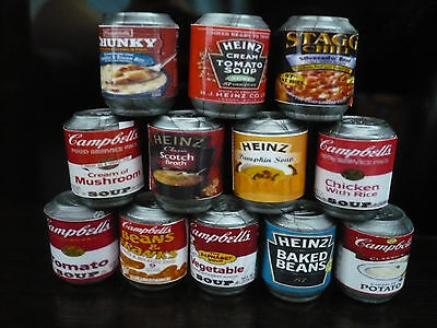 Set of 6 Food Canned  Dollhouse Miniatures Food Cans Supply Deco-4