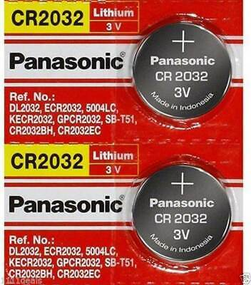 2 x SUPER FRESH Panasonic ECR2032 CR2032 Lithium Battery 3V Coin Cell Exp. 2028