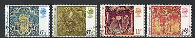 GB 1976 Christmas fine used set stamps