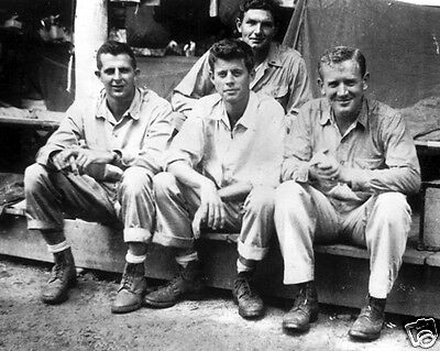 US Navy Lt. John F. Kennedy with PT-boat officers 1943 JFK New 8x10 Photo