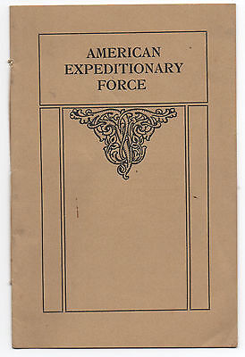 WWI Booklet on the AEF American Expeditionary Force