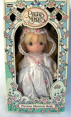 "1992 Precious Moments Bride 10"" Vinyl Doll  NEW in ORIGINAL BOX"