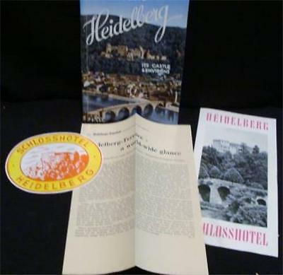 Heidelberg A 1950s Guide Book to Its Castles & Environs  with sticker