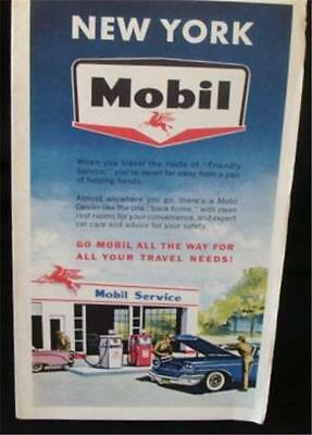 Mobil Oil Vintage Early 1960s Rand McNally Road Map of New York