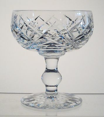 """DONEGAL WATERFORD CRYSTAL Footed Dessert 4 1/2"""", Signed"""