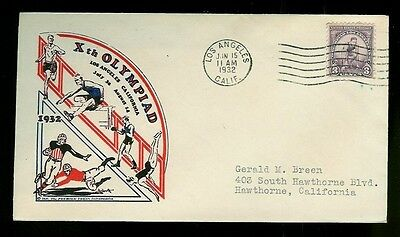 1932 Los Angeles Olympics 718-2 Ioor 10th Olympiad 1st Day Issue
