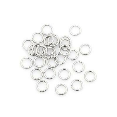 Packet of 110+ Silver Stainless Steel 0.9 x 5mm Jump Rings Y00530