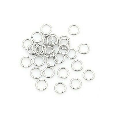 Packet of 110+ Silver Stainless Steel 0.9 x 8mm Jump Rings Y01085
