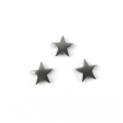 Packet of 3 x Silver Stainless Steel 13mm charms pendants (Star) ZX20130