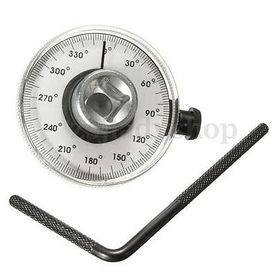 1/2'' Drive Angle Gauge Torque Wrench Meter Measurer Car Garage Tool Adjustable