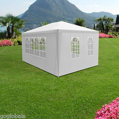 4m×3m Outdoor Garden Marquee Wedding Tent Party Shelter Canopy Sidewalls White