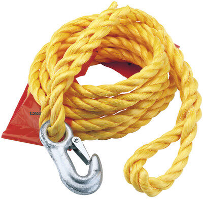 Draper 63410 2000KG Capacity Tow Rope With Flag Safety Hook Towing Cars Vans