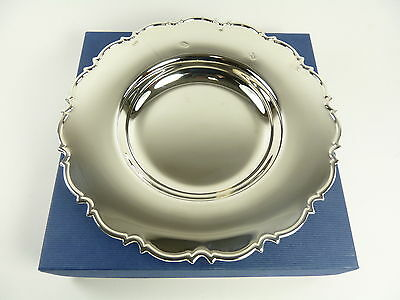 "Vintage Sterling Silver - Boxed Chippendale DISH - 8"" - Feature Hallmarks"