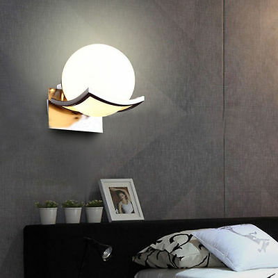 Ball Shaped Wall Light Fixture Sconce Lamp Glass Lampshade Night Lights Modern