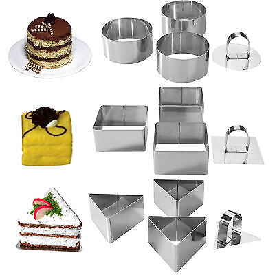 Mason Cash Stainless Steel Dessert Moulds Round Triangle Square Cake Mould Rings