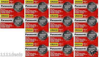14 x SUPER FRESH Panasonic ECR2032 CR2032 Lithium Battery 3V Coin Cell Exp. 2028