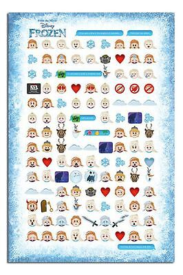 Frozen Told By Emojis Poster New - Maxi Size 36 x 24 Inch