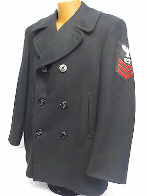 Vintage US Navy Seabee Equipment Operator First Class Pea Coat
