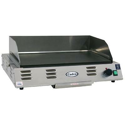 Cadco - CG-20 - 220V Electric Countertop Griddle - Flat Top Grill