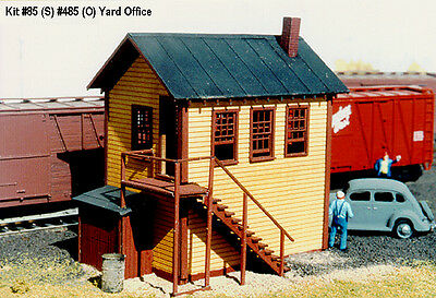 LaserKit S Scale Railroad Yard Office Kit #85  Bob The Train Guy