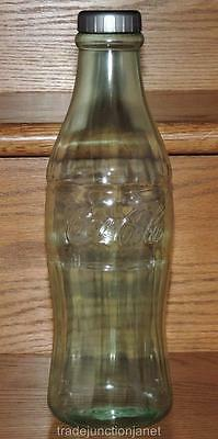 "NOS 2013 GREEN COCA-COLA SMALL 11.75""h PLASTIC CONTOUR COKE BOTTLE BANK USA"
