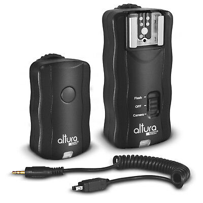 Altura Wireless Flash Trigger + Remote Shutter for Nikon D5300 D5200 D3300 D3200