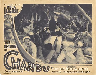 """the Return Of Chandu""-Original Lobby Card-Chap. 10-Sailors-Serial-Bela Lugosi"