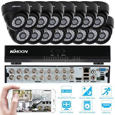 16 Channel H.264 960H/D1 DVR Security System with 16x 800TVL IR-CUT Cameras US