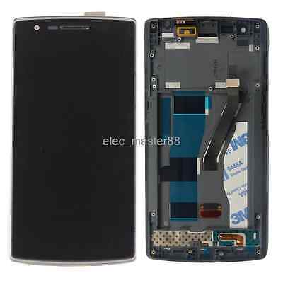 OEM LCD Display Screen Touch Digitizer Assembly W/Frame For Oneplus One 1+ A0001