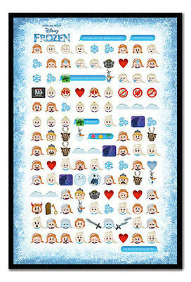 Framed Frozen Told By Emojis Poster New
