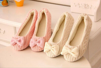 Retail Lovely Ladies Home Floor Soft Women indoor Slippers Outsole Bow Shoes