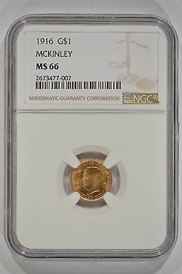 United States 1916 McKinley Gold $1 Commemorative NGC MS66 2673477-007