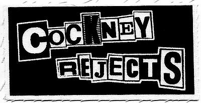 COCKNEY REJECTS logo CLOTH PATCH sew-on, punk **Free Shipping** unheard rejects