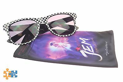"""Jem & the Holograms Promotional Movie Sunglasses Black w/ Checkerboard """"NEW"""""""