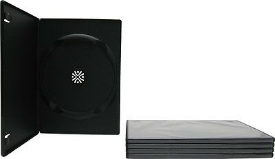 (5) DVBR07BK Super Thin Slim Empty Black DVD Cases Boxes 7mm NEW Disc Media CD
