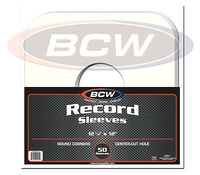 """(50) BCW PRS33-RC-WH 12"""" Vinyl LP Record White Paper Inner Sleeves Slips Covers"""