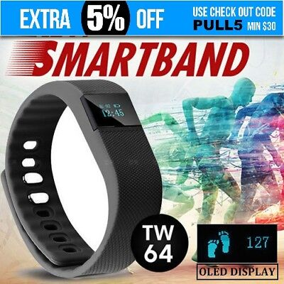 Bluetooth Smart Bracelet Watch Fitbit Style Sport Fitness Tracker Android iPhone