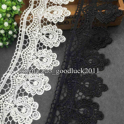 1 Yard Floral Crochet Lace trim Ribbon Applique Sewing DIY Crafts Trimming FL137