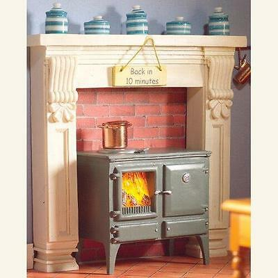 Wood Burning Kitchen Stove For 12th Scale Dolls House 5759