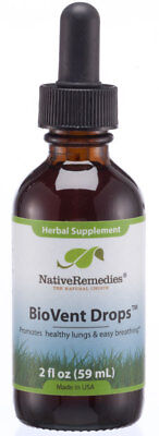 Native Remedies BioVent Drops - All Natural Herbal Supplement For Healthy Lungs